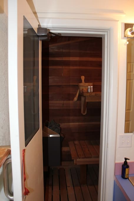Your own personal sauna after a day of skiing or biking.