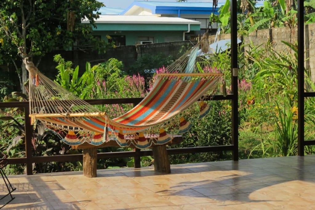 Rest in a hammock!