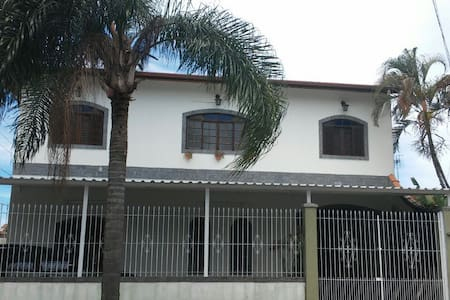 Quarto 1 em linda casa de praia - Casa