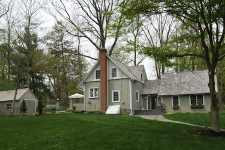 3 Br Historic Farmhouse/garden on private lane - Rumah