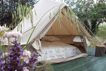 Tente canadienne - glamping - Le Luc
