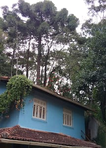 Casa azul na serra de Nova Friburgo. - Dom