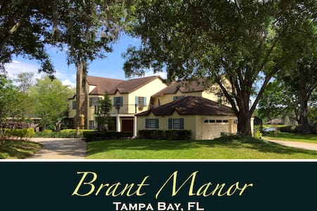 Majestic Brant Manor: 8 Bdrm, Lakefront Pool Home - Lutz - 独立屋