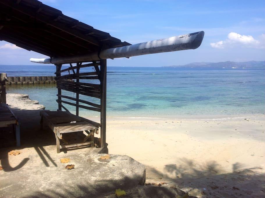 Little fisherman's shack on the beach