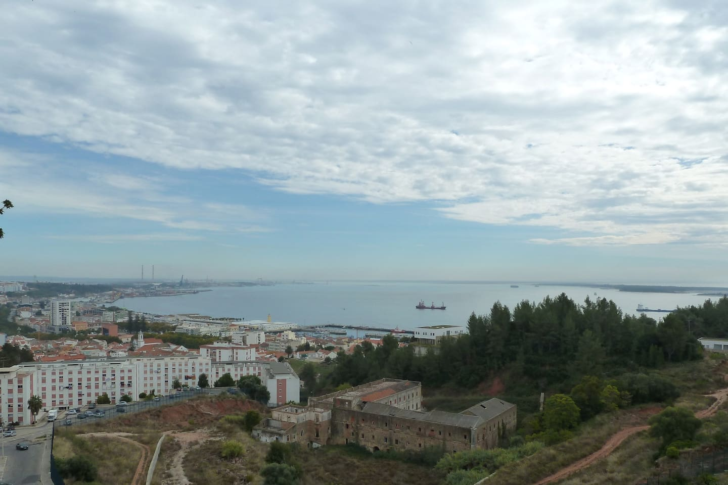 The view from my Balcony over the river Sado Estuary.