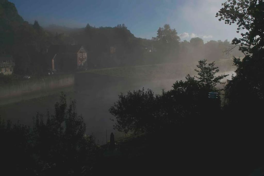 Imagine your early morning cup sitting by the river watching the fog lift.