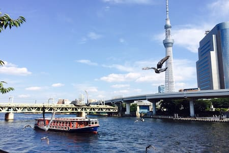 Best view of Skytree and Sensouji