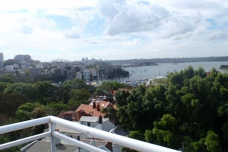 Well kept studio (17m2) with leafy aspect, close to Rushcutters Bay and amenities. 4 min walk to train station and near city.  Rooftop with BBQ has city, park and water views.  Studio contains bath room and kitchenette.