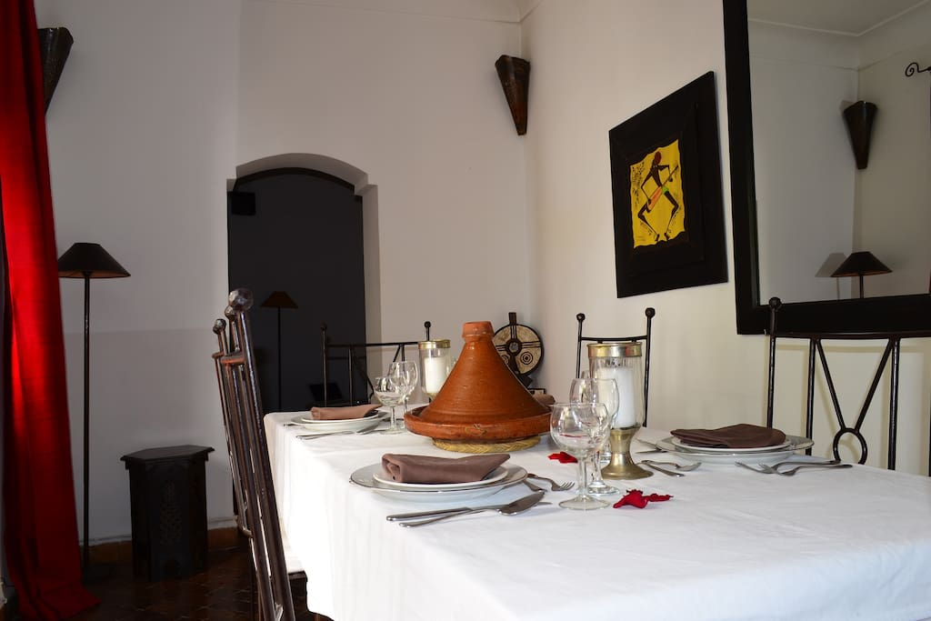 Dining room at Marrakech Riad