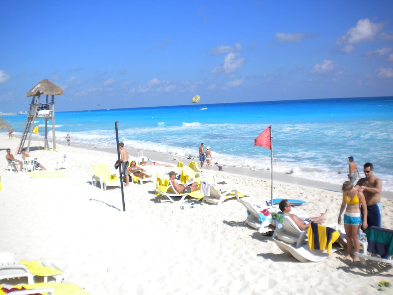 Spend your days at the beach.  Solymar is right on one of Cancun's best beaches!