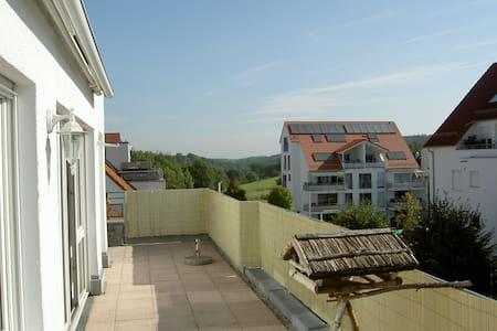 Sonnige Dachgeschoss-Wohnung mit großer Terrasse - Neuhausen auf den Fildern - Leilighet