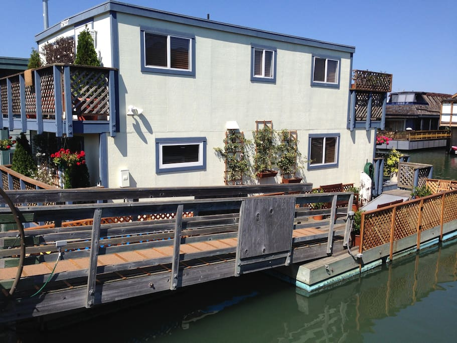 View of House as Approach from Dock