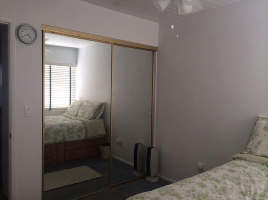 Guest room closet