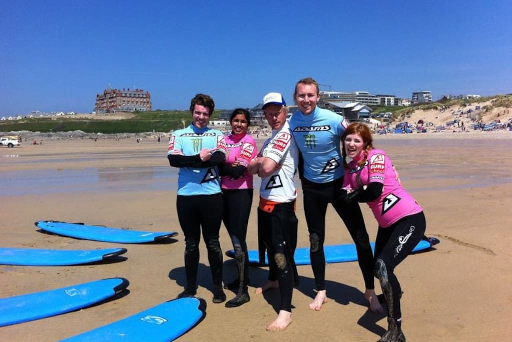 Why not book a Surf Lesson from our in-house Surf School by Adams Surfboards.