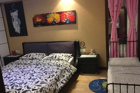 柳巷盘古一号家庭亲子整套公寓(浪漫满屋) - Lejlighed