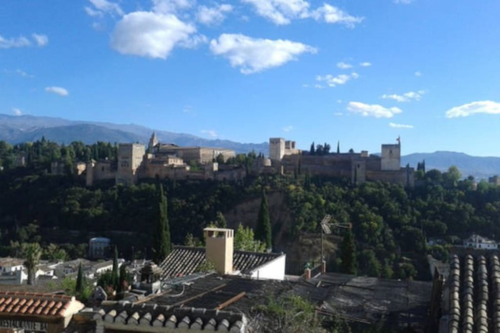 View Terrace to La Alhambra and Sierra Nevada