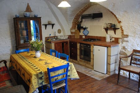 Casa Blu, is a small cosy country house. Fully equipped kitchen available, 2 double bedrooms and fully equipped bathroom. The house has access to a garden equipped with table benches and BBQ.