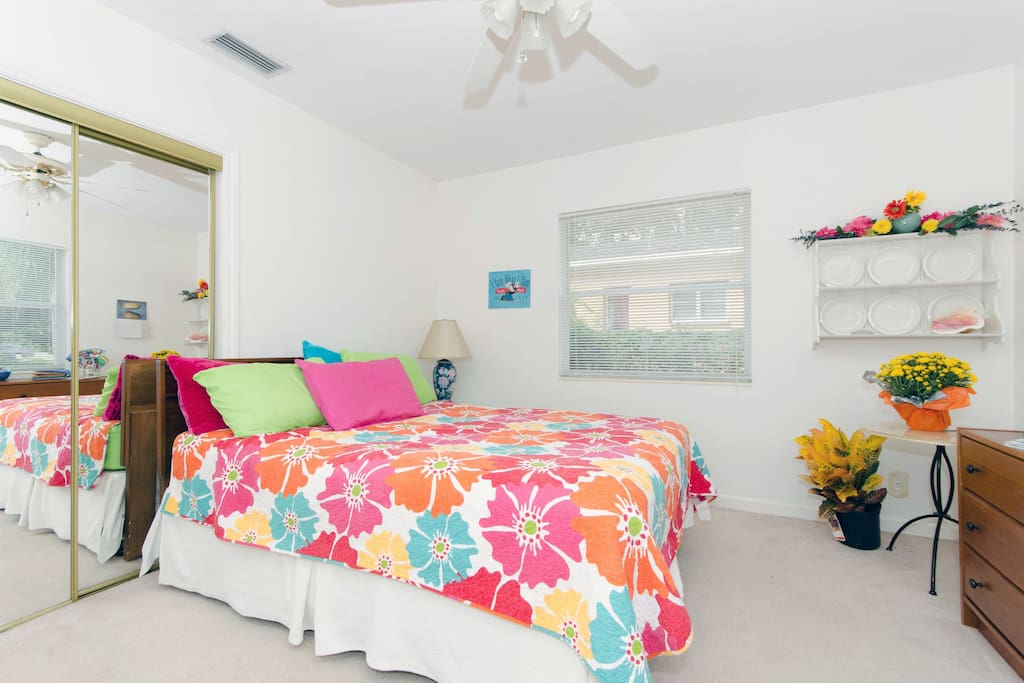 Bright, Sunny, Comfortable, Clean, Large master bedroom.