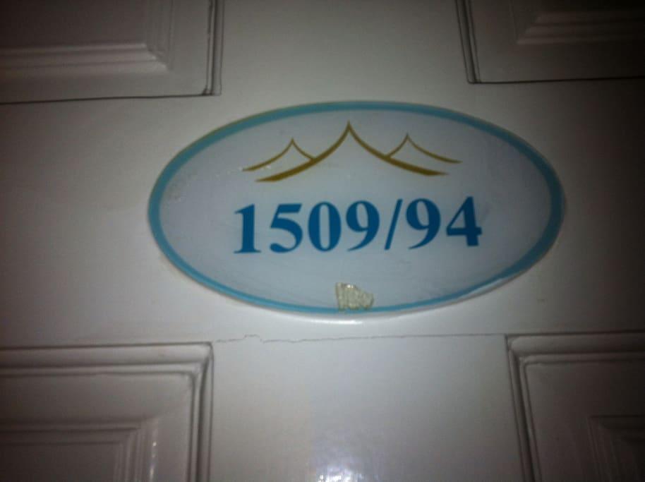 Penthouse 18th fl. unit 1509/94, press P Penthouse at elevator