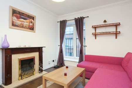 Very central Apt right in the heart of the city 2 min from Temple Bar and shops. Large 2 Bed apartment with TV available in the Living Room, comfortable Sofa Bed & 2 Large Bedrooms. It can accommodate up to 6 guests. With WiFi Travel cot available