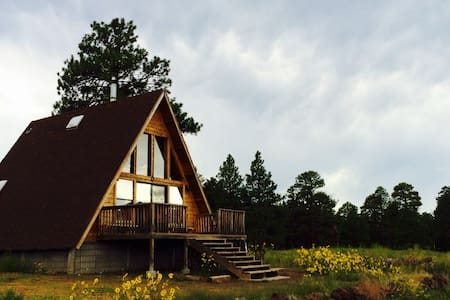 A-Frame Mountain View Cabin in a National Forest - Kulübe