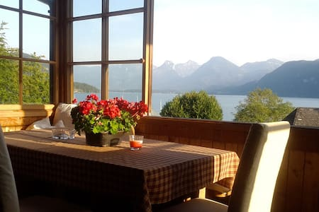 Großzügige DG-Wohnung mit herrlichem Seeblick - Sankt Gilgen - Apartamento