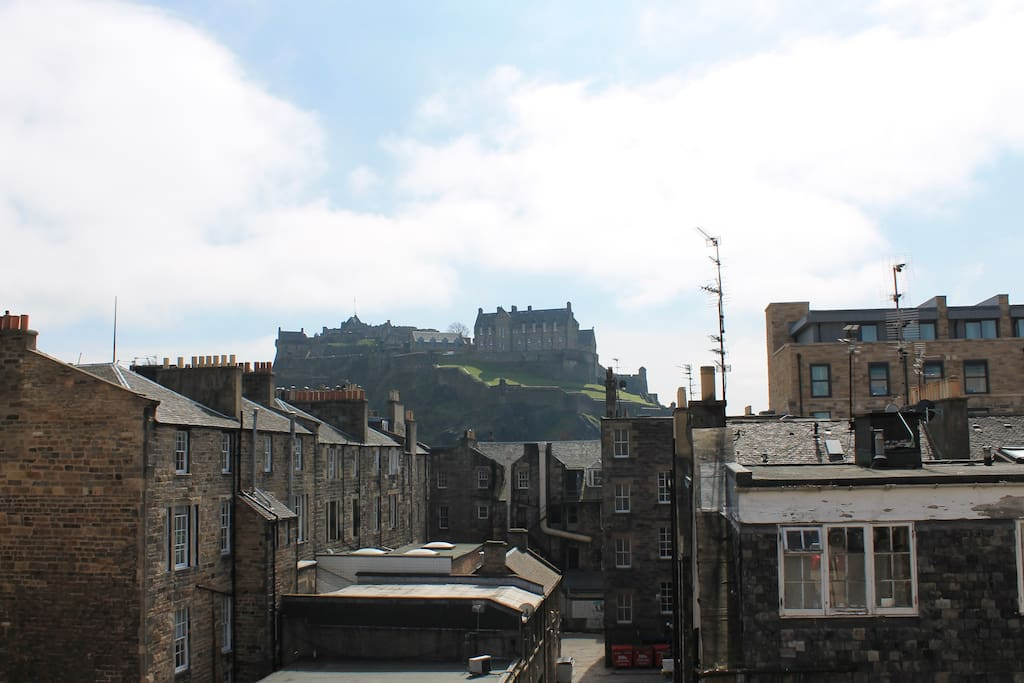 A view of the Castle from the front room window