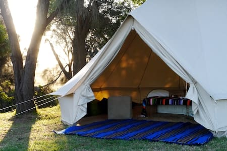 Glamping with a rural view