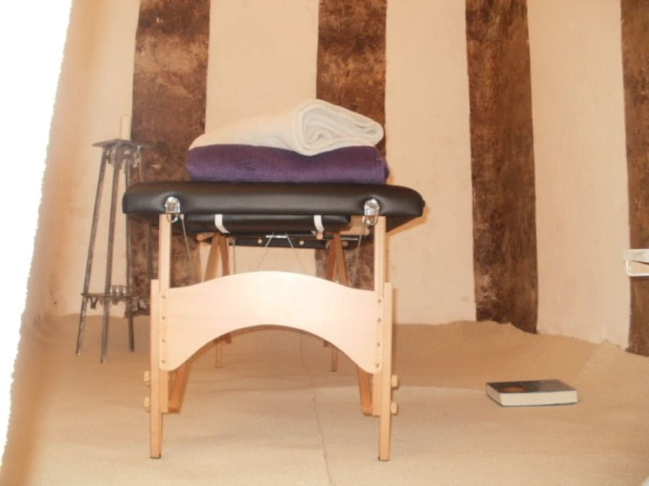 inside a cuvee, now used for cranial sacral massage therapy