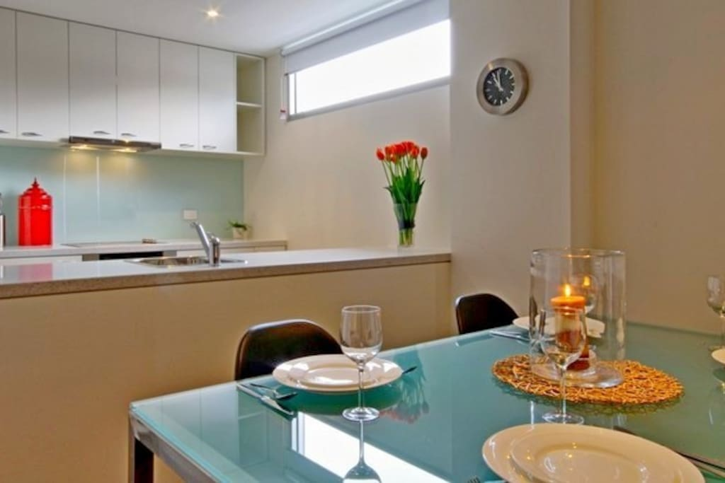 Our 2 bedroom apartments are styled similarly but offer slighly different layouts, including the kitchen