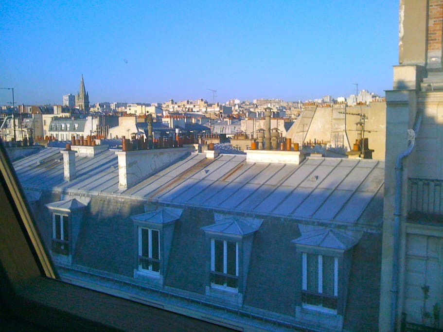 View from the living room on Paris' roofs and churches