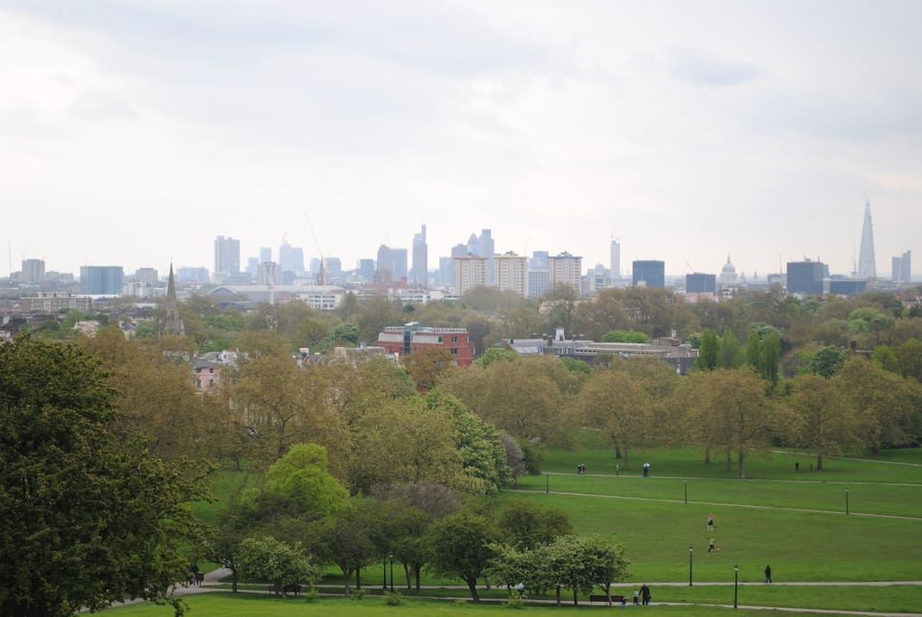 Fantastic View from the top of Primrose Hill even better on a clear day! Great spot for a Picnic too!