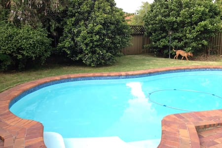 Pool & backyard, comfy house, beautiful quiet area - Hus