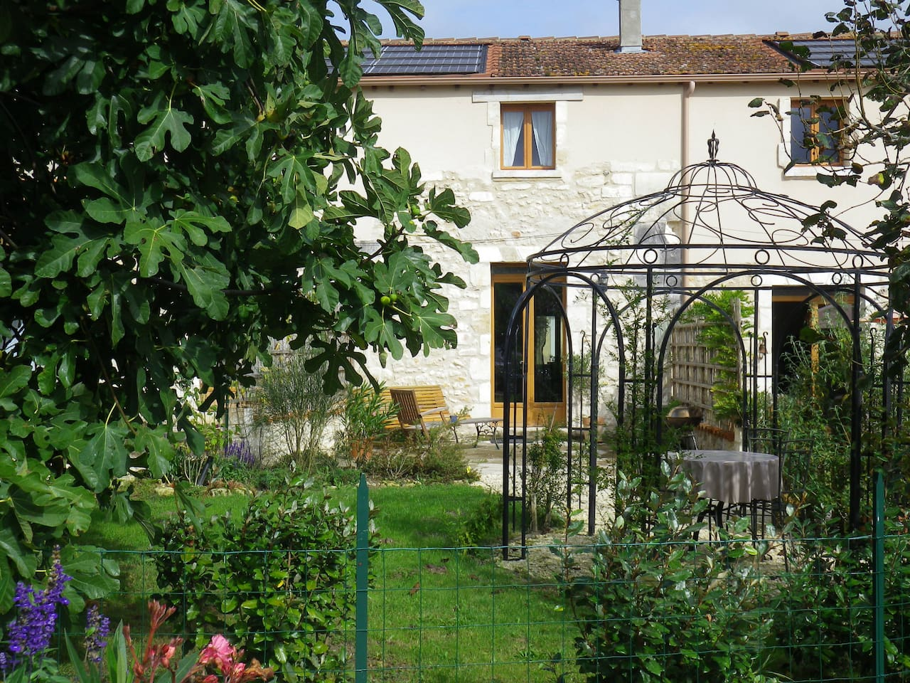 Private space, pretty enclosed garden. Not isolated for we also live on the site.