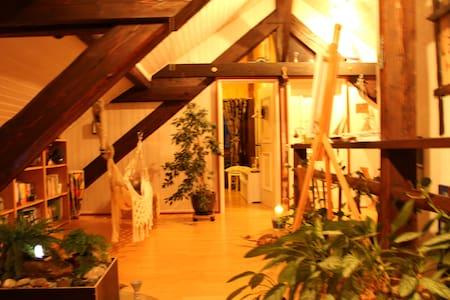 Charmante chambre boisée sous toit - Alpehytte