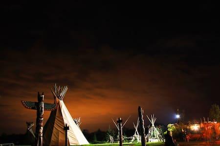 Native Indian - Vinetu village - Tepee