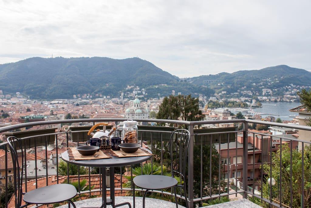 Breakfast on a terrace