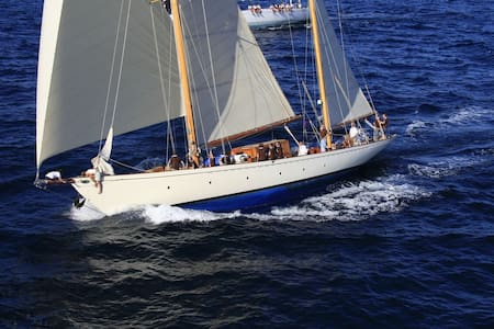 Main Guest Cabin, Classic Sailing Yacht L'Odyssée - ボート