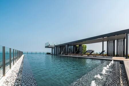 海景泳池,芭提雅唯一允许短租的高档公寓市中心周围都是经典 Ocean View Pool - Pattaya - Condominium