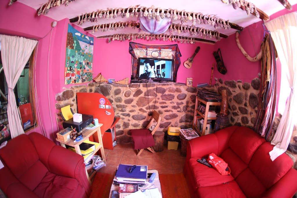 una sala libre para leer o ver vídeos