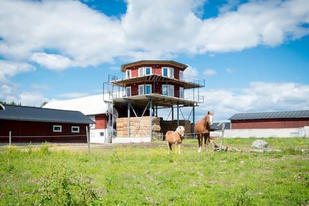 Nybyggt Tornhus i lantlig miljö - Loft