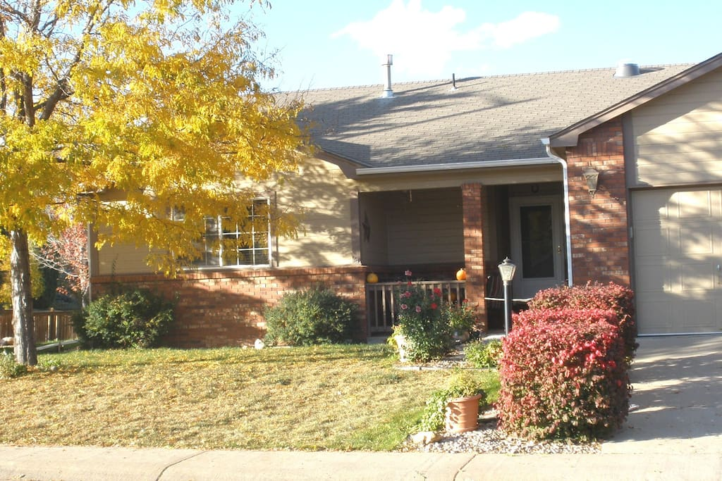 Front of home with ample street side parking
