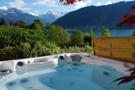 Panorama is a private house perched on hill 100 meters above the Zeller lake. It comands the best views of the lake, the town of Zell am see and the the moutains, in one word breathtaking! It is completely secluded, your private, tranquil paradise!!!