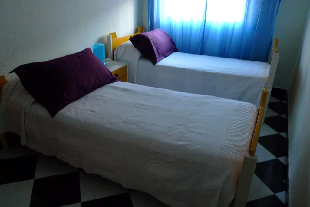 Dormitorio doble. Twin bedroom