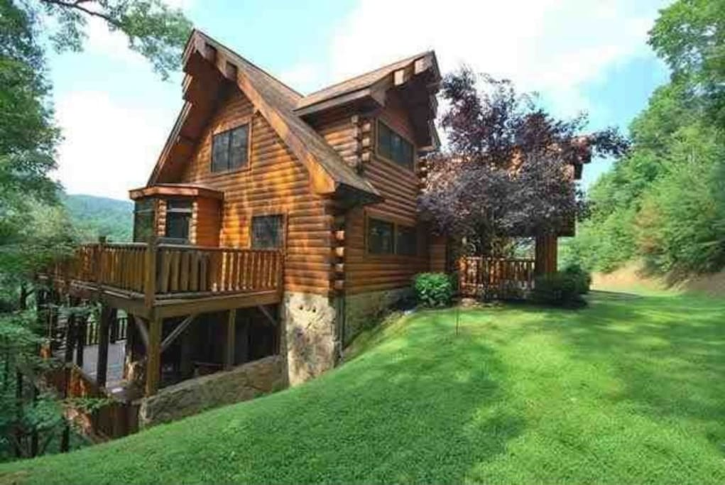 Beautiful 4100 Sf Luxury Log Cabin Cabins For Rent In