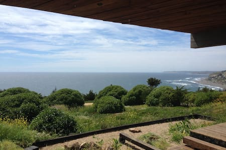 Spectacular view next to the ocean. - Matanzas, Navidad - Huis