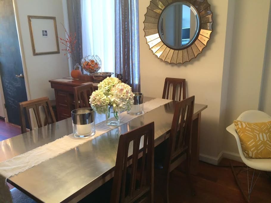 Stainless Steel Table seats 6