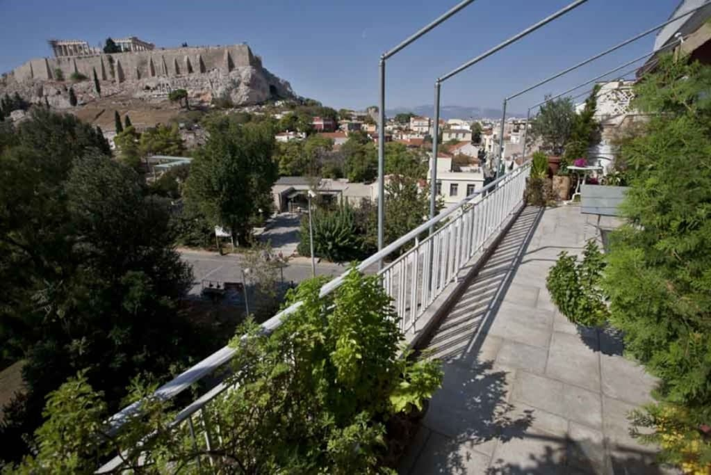 View of Acropolis from our large Veranda. No Hotel can offer this view & proximity and at such price!