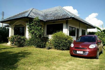 Modern house with car - Talo