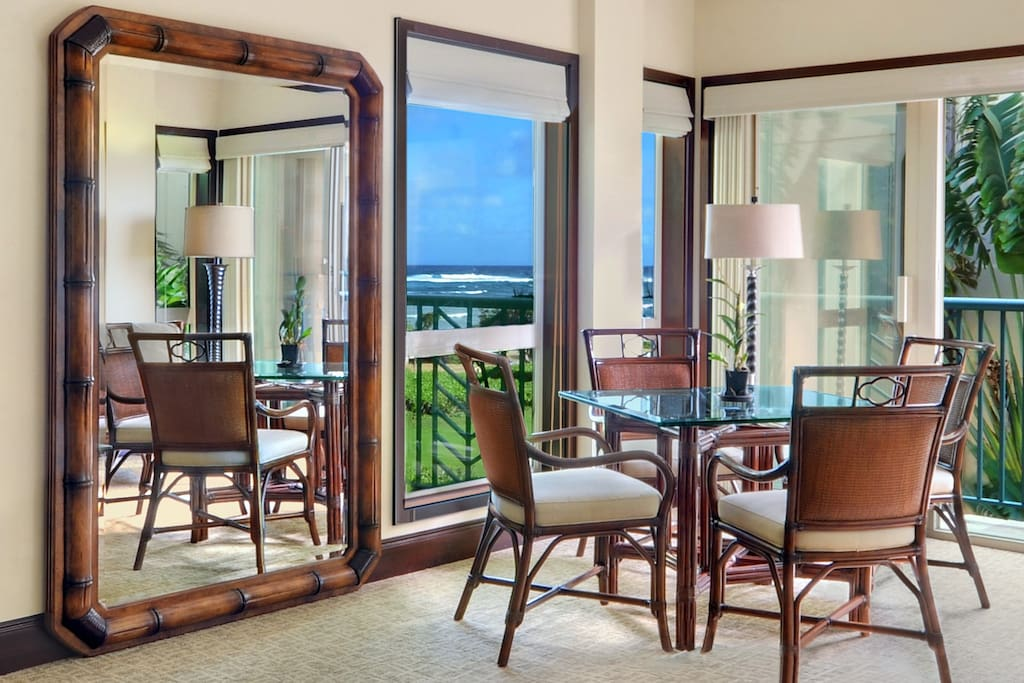Dining area with the ocean view